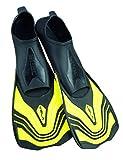 SEAC Vela, Pinne Corte da Nuoto e Snorkeling Unisex Adulto, Giallo, 38-39