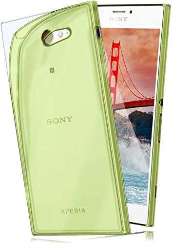 MoEx® AERO Case Transparente Handyhülle kompatibel mit Sony Xperia M2 | Hülle Silikon Dünn - Handy Schutzhülle, Durchsichtig Grün