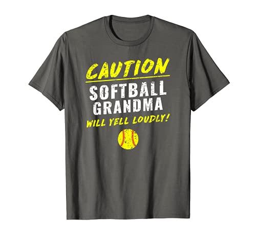 Fastpitch Softball Grandma Funny T-Shirt