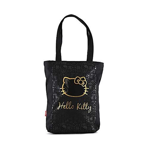 Target Hello Kitty Shopping Bag Strandtasche, 36 cm, Schwarz (Black/Gold)