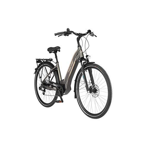 FISCHER E-Bike City CITA 6.0i, Elektrofahrrad, platingrau matt, 28 Zoll, RH 44 cm, Brose Drive C Mittelmotor 50 Nm, 36 V Akku im Rahmen