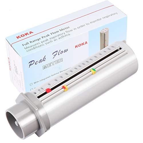 ULTECHNOVO Peak Flow Meter Asthma Monitor Tragbar Spirometer Lungentrainer für Erwachsene