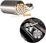 XIAOXIA 50 Unids Nuevo Estuche De Cigarrillo Portátil A Prueba De Agua Caja De Cigarrillo Redonda 304 Plata De Acero Inoxidable