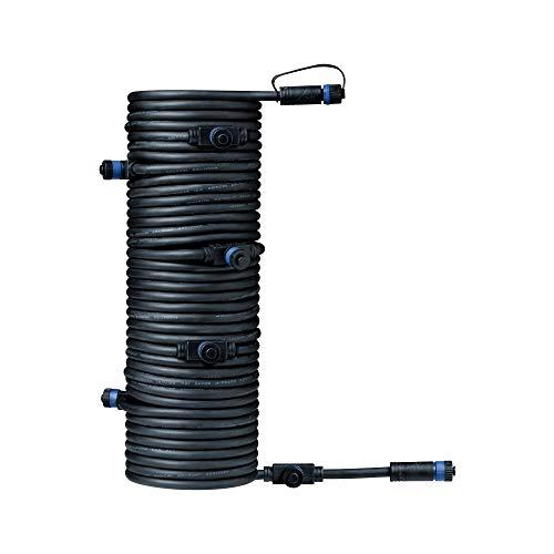 Paulmann 939.31 Outdoor Plug & Shine Connector 15m 1in-7out IP68 2x1,5mm² 93931 Verlängerungskabel Verbindungskabel Aussenbeleuchtung