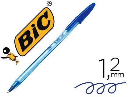 Boligrafo bic cristal soft azul punta de 1,2 mm. (50 Unidades)
