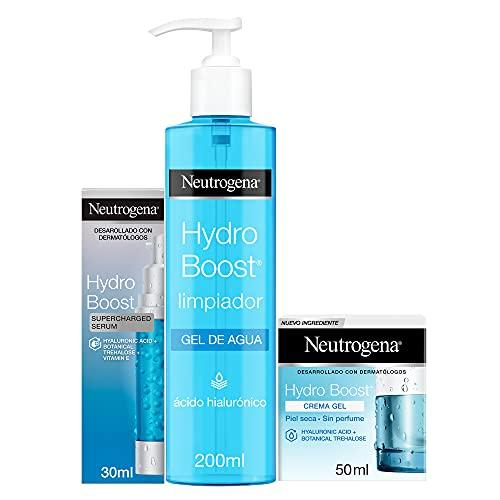 Pack Neutrogena Hydroboost - Limpiador Gel de agua + serum + crema gel