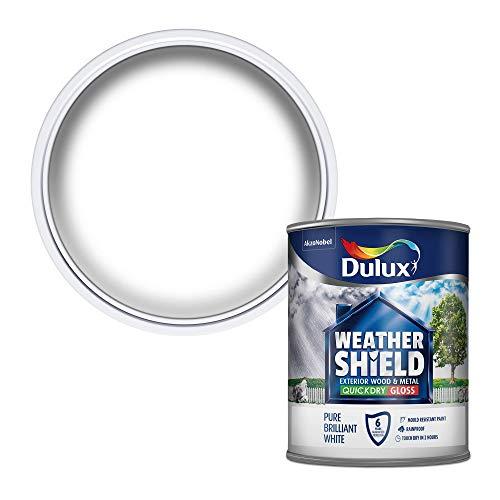 Dulux Weather Shield farba do szybkiego schnięcia, 750 ml – czysta biała brylantowa
