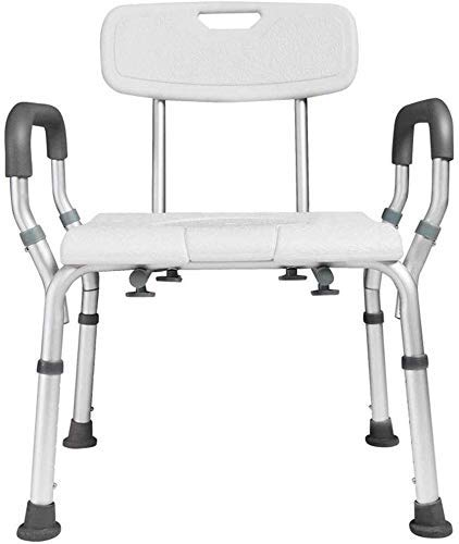 CHUNSHENN Shower, Bathroom, Bath Stool, Adjustable Backrest and Armrests, Mobile Shower Stool, Suitable for Elderly Pregnant Women Mobile Wheeled Bathroom Wheelchairs