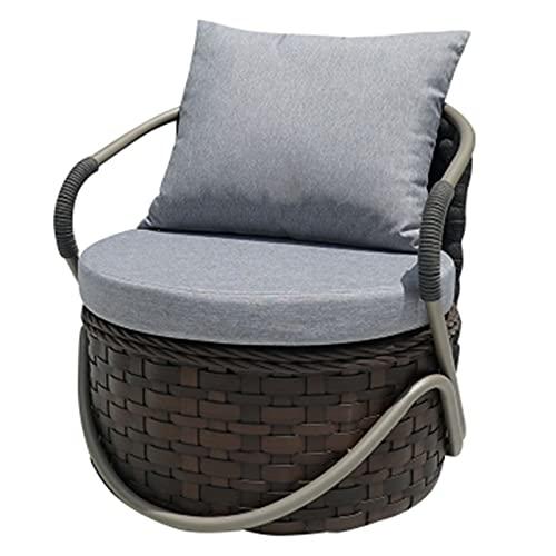 YTO Pequeño sofá al Aire Libre Creativo del balcón de la Rota, sofá al Aire Libre del Ocio del Patio del jardín