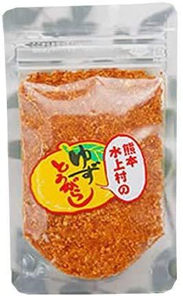 熊本水上村のゆずとうがらし 詰め替え用 28g×2袋 たけうち 厳選した熊本・水上村産の柚子の皮を贅沢に使用 薫り高いユズ皮のコクのある唐辛子 一味や七味唐辛子の代わりに