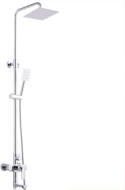 GWFVA Badezimmer-Duschmischer-Set, Duschset, Vollkupfergehuse, Galvanik, Multifunktions-, Warm- und Kaltmischbatterie, Badezimmerdusche