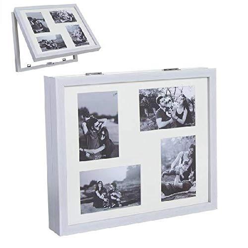 Dcasa Tapa Contador Multifotos Marcos de Fotos Decoración del hogar Unisex Adulto, Blanco (Blanco), única