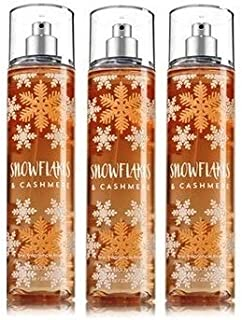 Bath & Body Works SNOWFLAKES & CASHMERE Lot of 3 Fine Fragrance Mist