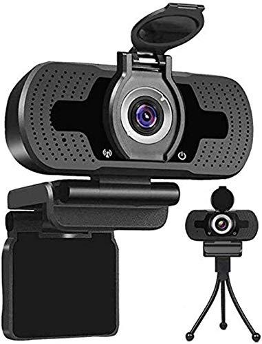 Webcam USB 1080p, cámara web for PC, de escritorio, portátil, streaming webcam micrófono incorporado, Plug and Play videollamadas Informática, Informática fo juego y conferencia, en la vida privada de