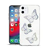 Clouds Compatible iPhone 11 Pro Max Clear Case/iPhone 11 Pro Max Thin Cases for Girls Glitter Cool Cute Pattern Soft Slim TPU Phone Cases for Apple iPhone 11 Pro Max-Butterfly