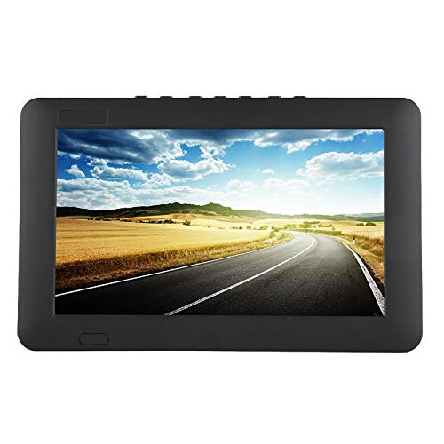 Dpofirs TV Digital automática TV portátil T/T2 Estéreo Altamente Sensible Alrededor de HD 1080P TV automática TV Digital para automóviles ATV/UHF/VHF Soporte de TV portátil AV/HDMI//VGA/USB(9in)