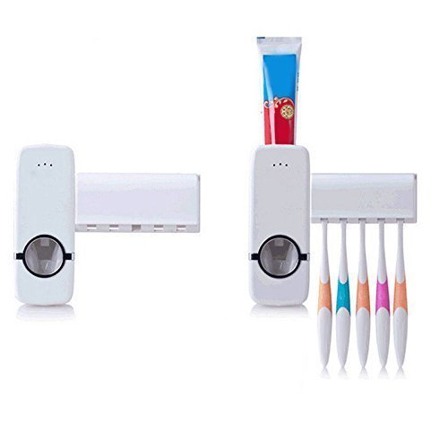 P&P Automatic Toothpaste Dispenser with Toothbrush Holder