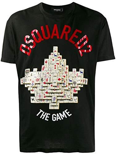 Luxury Fashion | Dsquared2 Heren S71GD0896S21600900 Zwart Katoen T-shirts | Lente-zomer 20