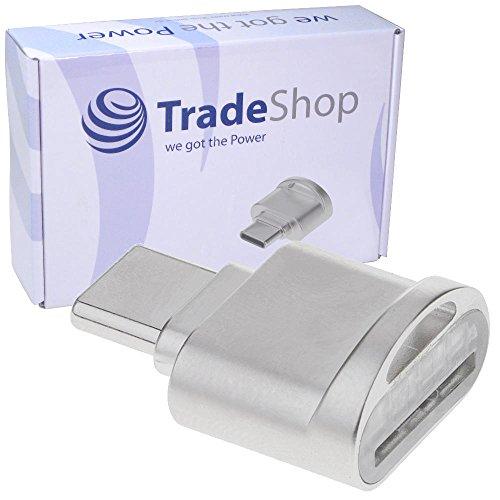 Trade-Shop USB 3.1 Typ C Micro SD Card Reader Karten Leser Lesegerät Kartenleser OTG Adapter für Huawei Honor 8 Premium Pro Honor Note 8 Mate 10 9 Nexus 6P Nova 2 P10 P9