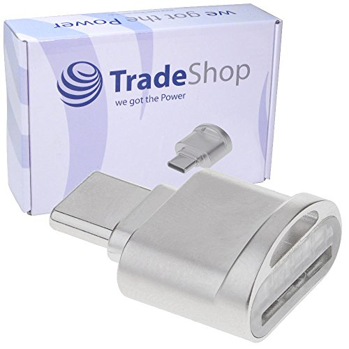 Trade-Shop USB 3.1 Typ C Micro SD Card Reader Karten Leser Lesegerät Kartenleser OTG Adapter für Samsung Galaxy A3 A5 2017 Note 8 Note7 S8, S8 Active S8+, S8+ Duos ZTE Axon 7, 7 Mini, Z2, Z2 Pro
