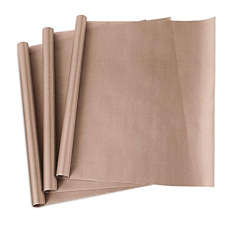 3 Pack PTFE Teflon Sheet for Heat Press Transfer Sheet Non Stick 16 x 20' Heat Transfer Paper Reusable Heat Resistant Craft Mat
