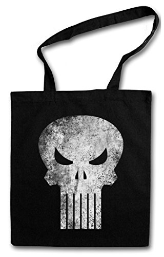 Urban Backwoods Punisher Skull Bolsas de la Compra Reutilizables - Insignia Logo...