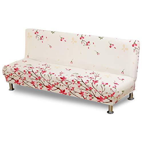 VanderHome Copridivano Fodera per Divano letto Elastico senza braccioli Copridivano (Peach Blossom
