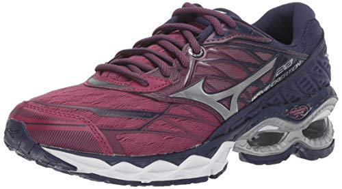 Mizuno Women's Wave Creation 20 Running Shoe, Purple Potion-Silver, 8.5 B US