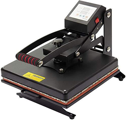 Display4top Prensa de Calor Maquina de Prensa de Calor Máquina de la sublimación de la transferencia de la prensa del calor de la camiseta, uso para industrial, profesional y casero (37.5cm x