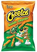 Cheetos Cheddar Jalapeno Crunchy Cheese Flavored Snacks 2 Oz. (Pack of 32)
