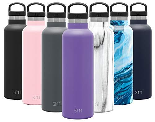 Simple Modern Ascent 590mL Botella de Agua de Acero Inoxidable con Tapa de Asa, Botella Termica con Boca Estrecha, Aislada al Vacío, Doble Pared, Termo sin BPA para Deporte o Viaje, Prueba de Fugas