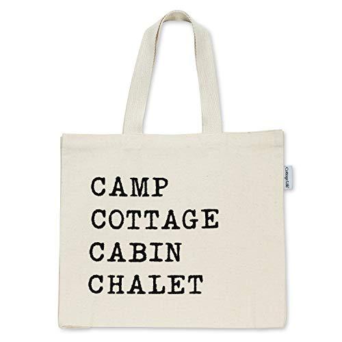 Abbott Collection 1256-TBL-09 Bolsa XLTote Camp/Cottage de 40,6 x 45,7 cm, Marfil/Negro