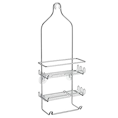 InterDesign Milo Shower Caddy - Bathroom Shelves for Shampoo, Conditioner and Soap, Chrome
