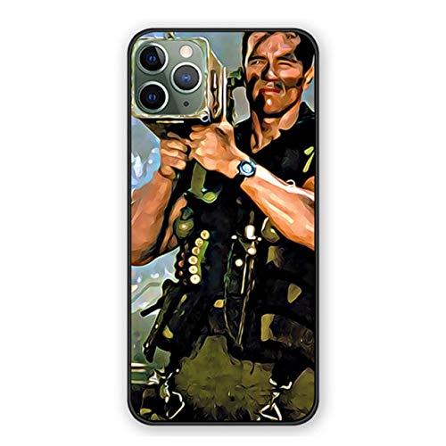 Funda blanda para iPhone 11 12 Pro Max X Xs Max Xr 7 8 6 6S Plus 5 5S SE 11 12 Cover Arnold Schwarzenegger Movie Commando 1985