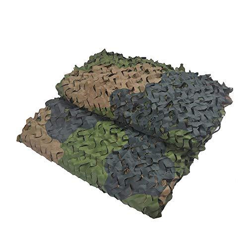 Filet de D'ombre,Camouflage Net Maille de Soleil Camo Auvents Tente Tissu Oxford,Convient pour Plage Pêche Couverture Voiture Plante Couverture Protection Camping Cacher Chasse Tournage,Forêt