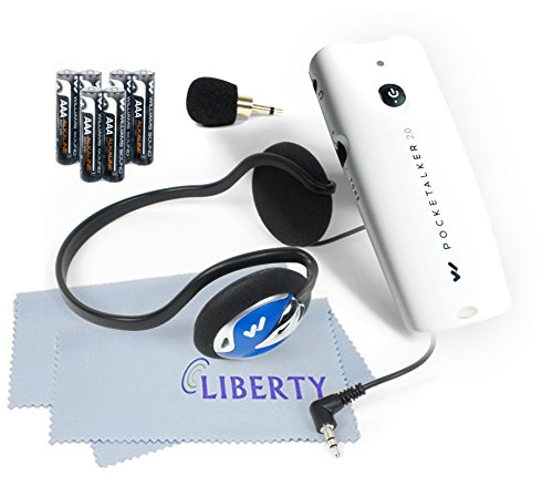 New!!! Pocketalker Ultra 2.0 Platinum Package by Williams Sound - Platinum Package Includes 2 Liberty Microfiber Cloths and 3 Extra Sets of Batteries (Behind The Head Headphones)