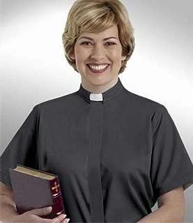 Murphy Robes 38284 Clerical Shirt Women Short Sleev Tab Col Size 16 Black