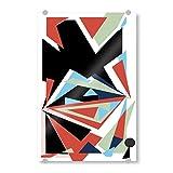 artboxONE Acrylglasbild 60x40 cm Abstrakt Abstract Form Bild hinter Acrylglas - Bild popkonst abstrakt bunt