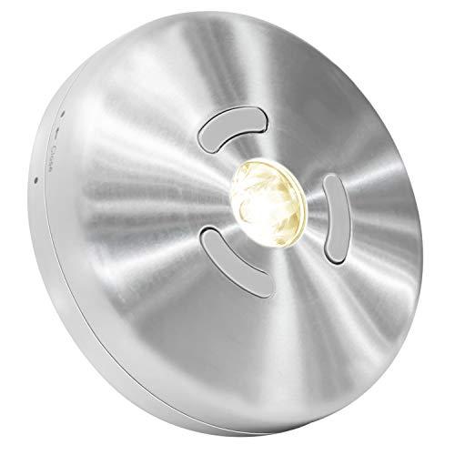 HONWELL Foco inalámbrico de aluminio con pilas, 3000K blanco cálido para Luces...