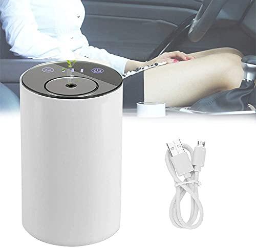 XJYDS USB Diffuseur de nébulisation de l'huile essentielle de l'arôme rechargeable Diffuseur sans chaleur, Diffuseur de voiture avec humidificateur de brume calme calme et portable pour salon, chambre