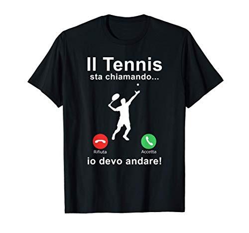 Tennis Racchette Sport Grafica Il Tennis Sta Chiamando Maglietta