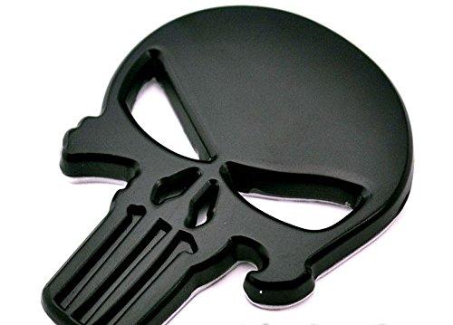 3D Autoaufkleber Marvell Skull Punisher Metall schwarz, Totenkopf