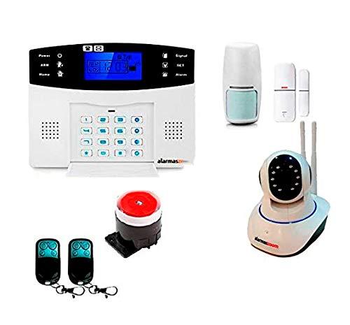 Alarma Hogar AZ017-2 gsm Castellano sin cuotas para casa. Facil instalación. Asistencia telefónica en Castellano. App con Control Remoto SMS. Facil configuración. Protección y Seguridad hogar (Kit 5)