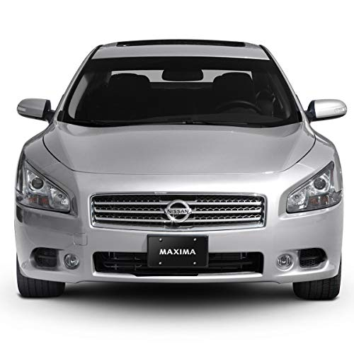 iPick Image - 3D Logo on Black Stainless Steel License Plate for Nissan Maxima