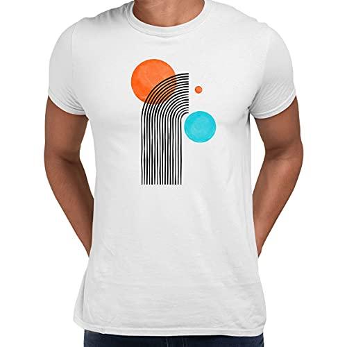 KuziTees Pop Art Line Dibujo Camiseta Formas Abstracto Diseño Manga Corta Divertido Hombre Niños Unisex Camiseta