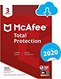 McAfee Total Protection 2020 | 3 Geräte | 1 Jahr | PC/Mac/Smartphone/Tablet | Download Code