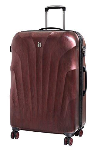 it luggage Momentum 8 Wheel Hardside Expander Suitcases with TSA Lock, Wine/Black Brushed, Large(Size Label:X-Large)