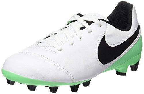 Nike Unisex-Kinder Jr Tiempo Legend VI AG-Pro Fußballschuhe, Weiß (White/Black-Electro Green), 38 EU