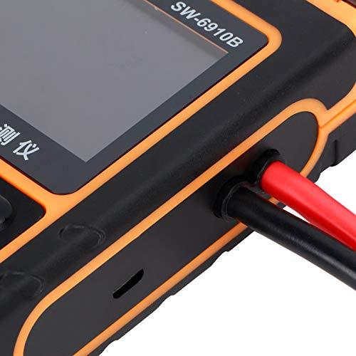 Probador de batería digital, impresora incorporada Cálculo de prueba Kelvin Probador de batería de automóvil para verificar el estado de la batería y detectar fallas