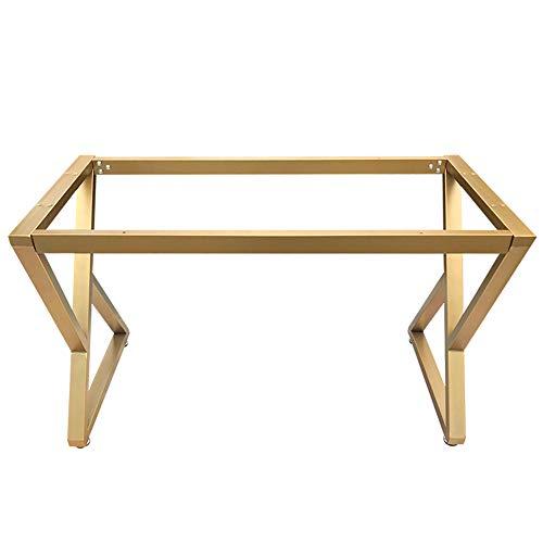 HXBH Patas de muebles de hierro forjado dorado - patas de mesa de metal de lujo ligero taburetes de bar marco de escritorio de computadora de oficina patas de escritorio patas de mesa de café patas